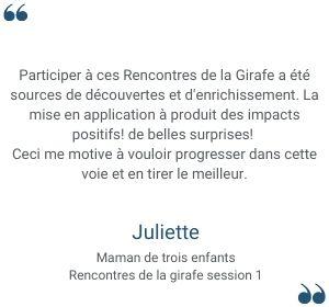 Témoignage Juliette