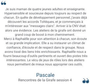 Témoignages Pascale